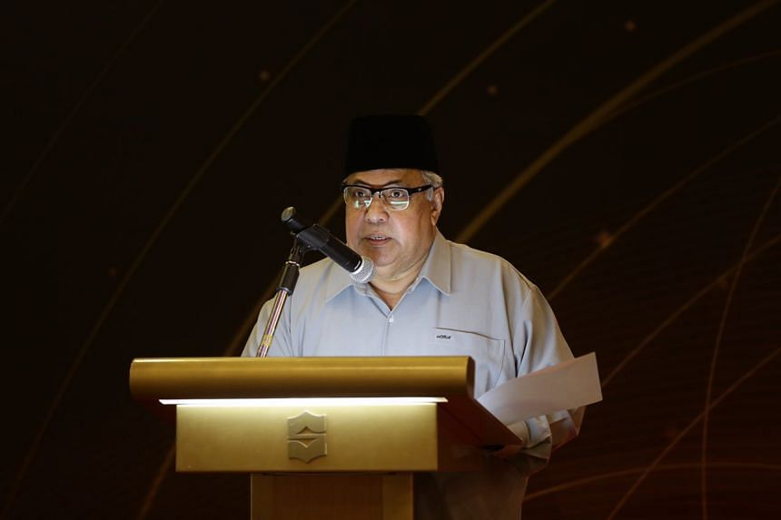 Religious Rehabilitation Group co-chairman Ustaz Ali Haji Mohamed speaking at RRG's 13th Annual Retreat at the Shangri-la's Rasa Sentosa Resort and Spa, on March 14, 2017.