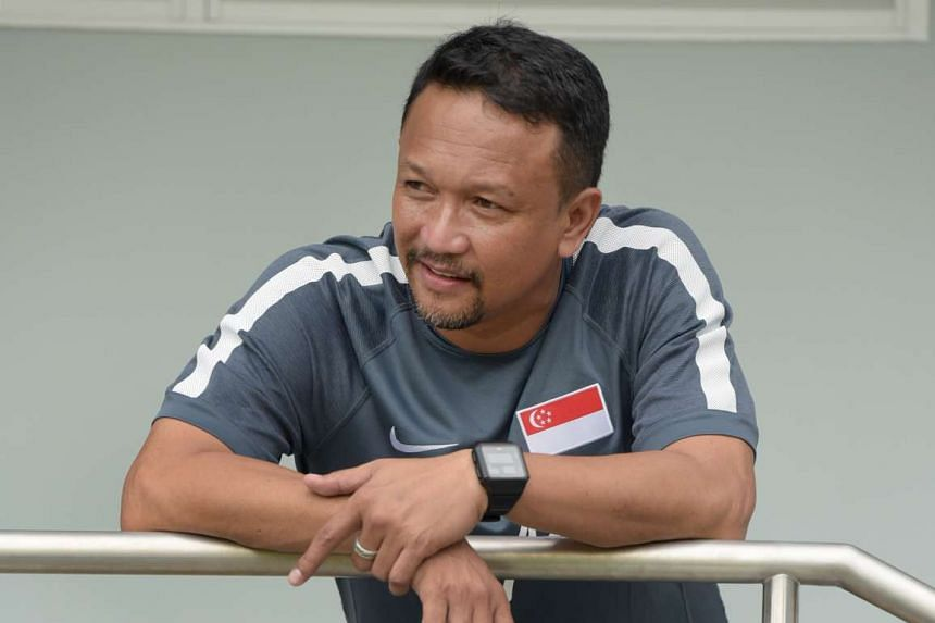 Fandi Ahmad during a training session at Geylang Field on 1 October 2016.
