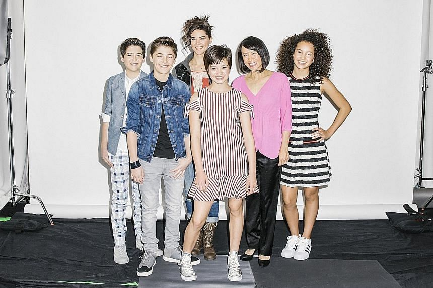 The cast of Andi Mack, a comedic drama aimed at children aged six to 14 and their parents.