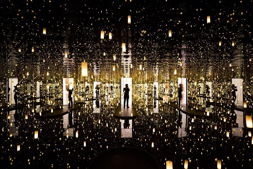 Infinity Mirrors by Japanese artist Yayoi Kusama is on display at the Hirshhorn Museum until May 14.