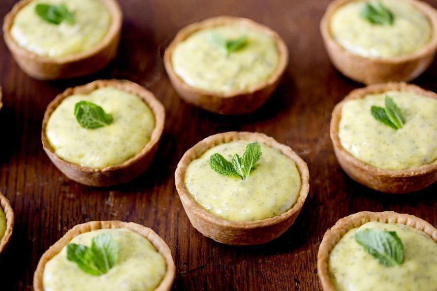 Yotam Ottolenghi's mojito-inspired lime, mint and rum tarts.