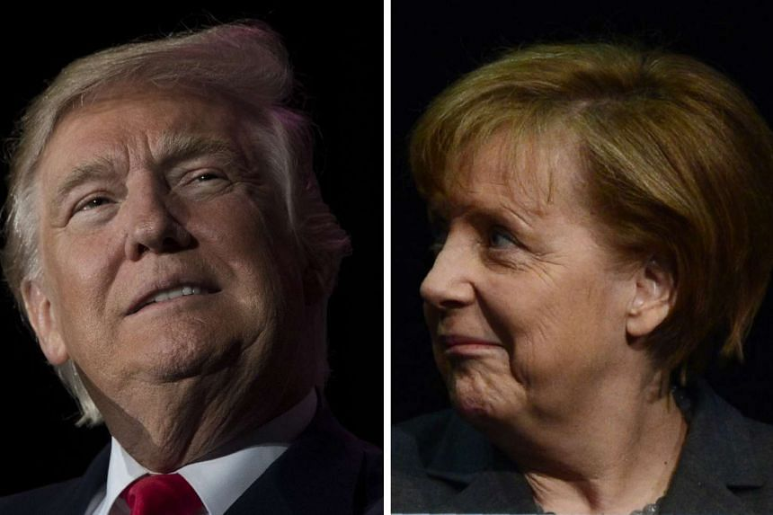 A meeting between Europe's most powerful leader, Angela Merkel (right), and US President Donald Trump has been postponed.