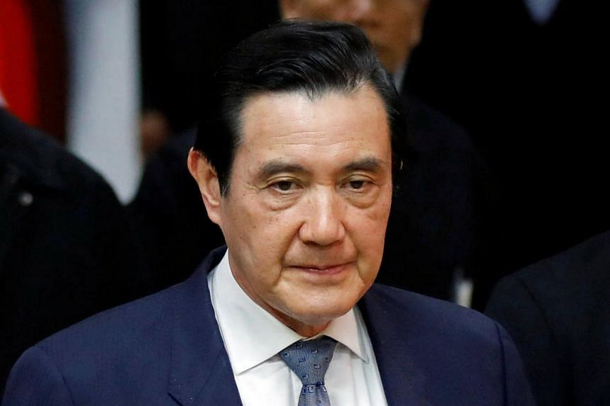 Former President Ma Ying-jeou appears in court for his political leaks controversy, in Taipei, Taiwan, on Jan 10, 2017.
