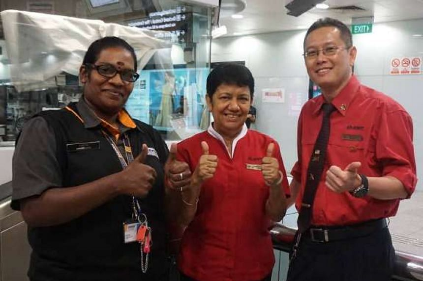 Security officer Punitha, assistant station manager Kuldip Kaur and station manager William Koh saved a child's life.