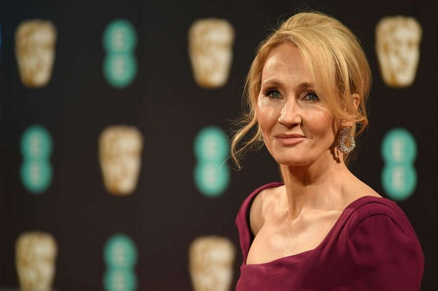 British author JK Rowling arrives at the Bafta film awards in London, Feb 12, 2017.