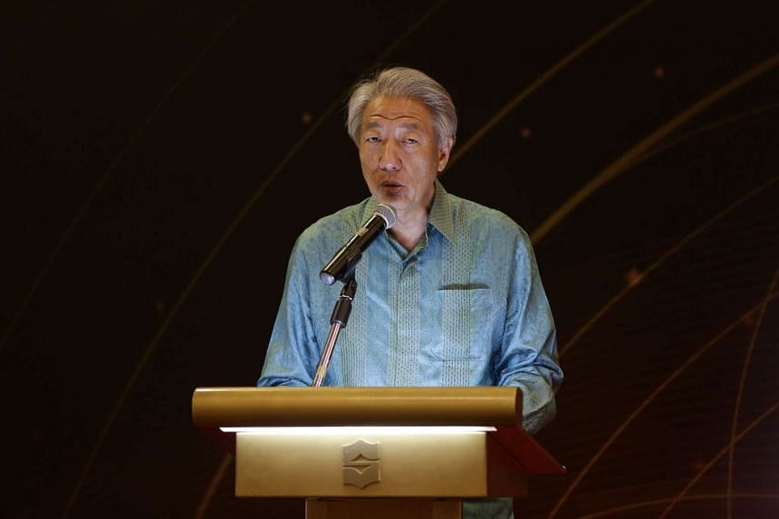 Deputy Prime Minister Teo Chee Hean speaking at the Religious Rehabilitation Group's 13th Annual Retreat at the Shangri-la's Rasa Sentosa Resort and Spa on March 14, 2017.