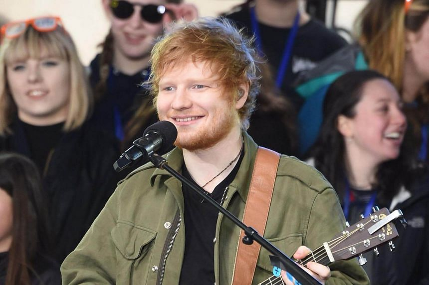Ed Sheeran performing on NBC's Today at Rockefeller Plaza on March 8, 2017 in New York City.