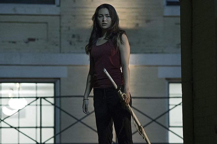 Jessica Henwick (above) plays the sidekick of martial arts superhero Danny Rand (Finn Jones) in Iron Fist.