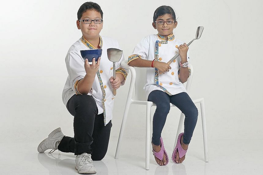 Matthew Tong and Ananthi Aishwariya are two of 12 finalists in the Singapore edition of Chef Minor.