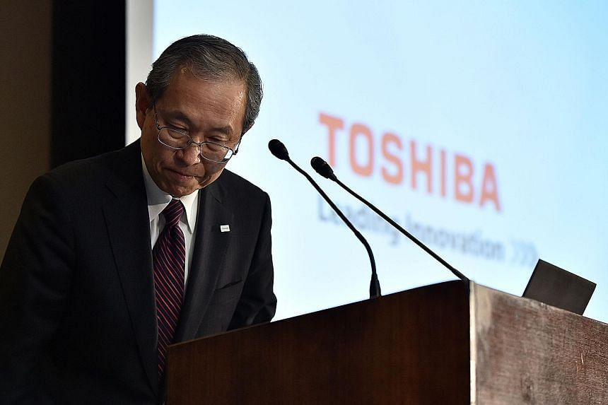 Mr Tsunakawa, Toshiba's CEO, yesterday said the company has won approval to delay the release of its earnings as it needed more time to probe accounting fraud allegations at its loss-hit US nuclear unit.
