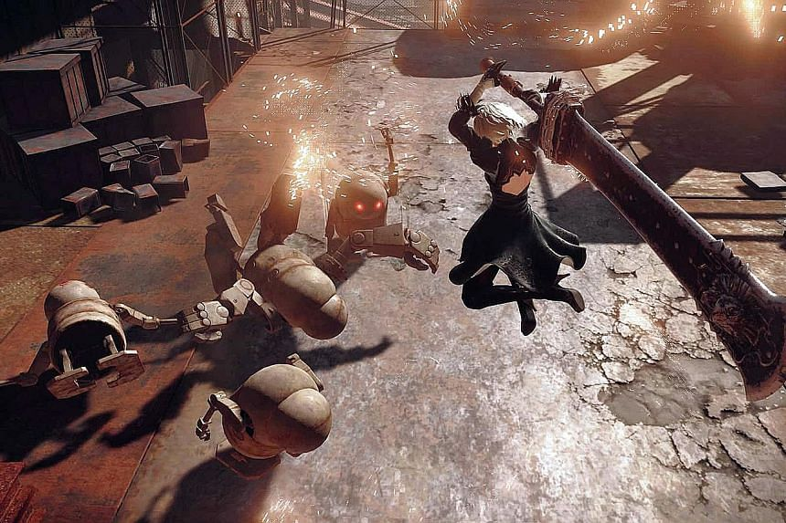 In Nier: Automata, combat is fluid, with your character capable of unleashing impressive combo moves.