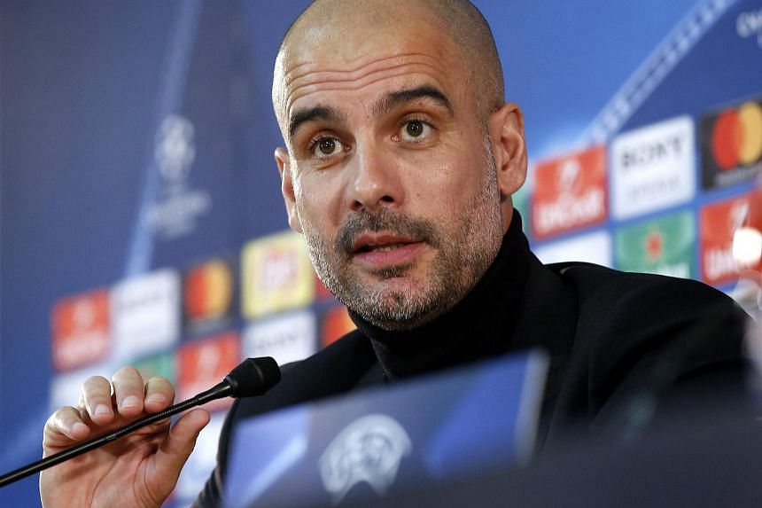 Manchester City's Spanish head coach Pep Guardiola attending a press conference at Stade Louis II, in Monaco, on March 14, 2017.
