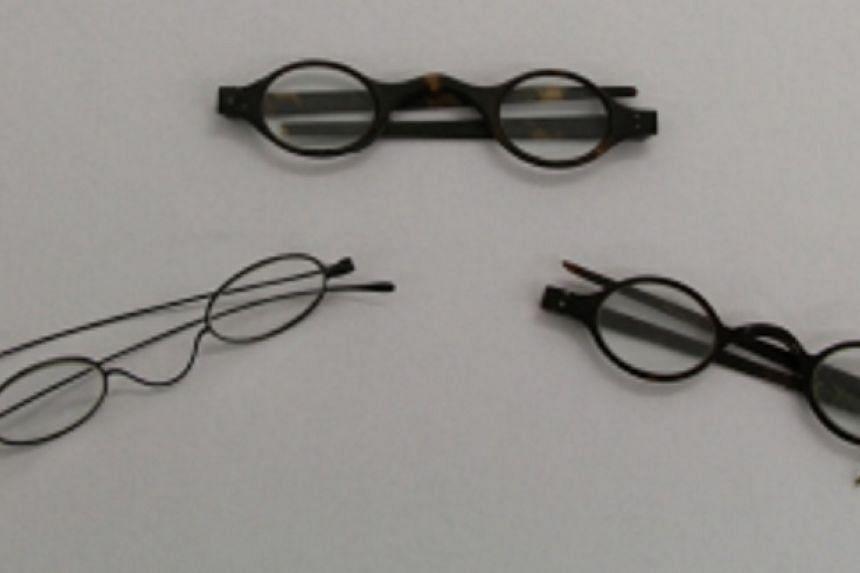 Three spectacles were found in a desk that belonged to Jane Austen.
