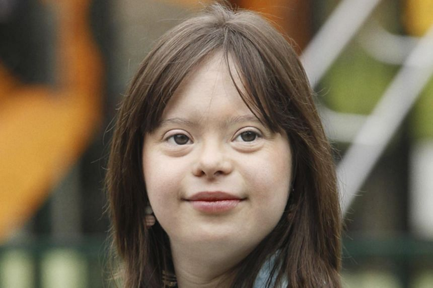 Ms Melanie Segard, who has Down's Syndrome, presented the weather forecast on French national TV on Tuesday, March 14, 2017.