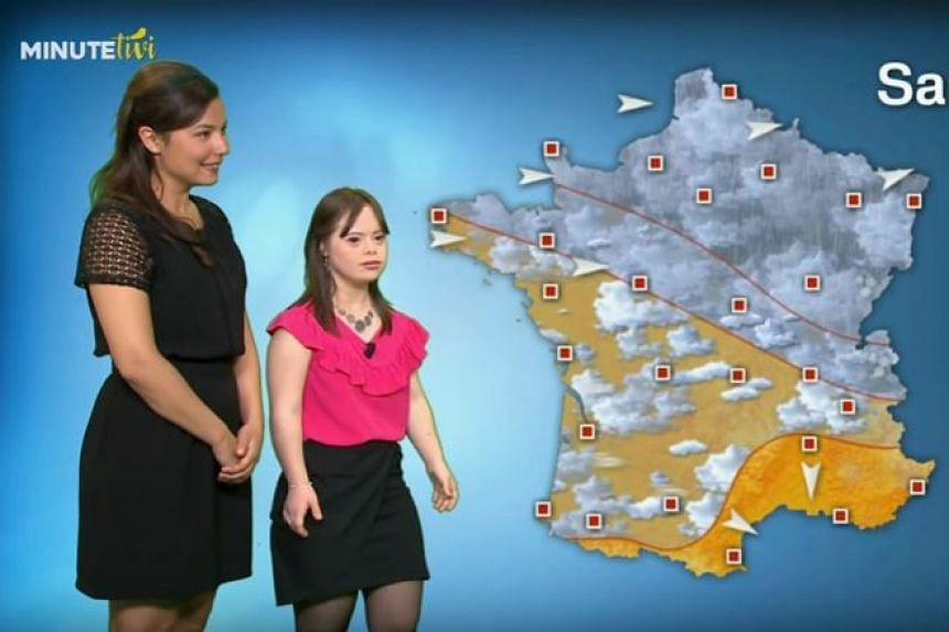 Ms Melanie Segard presents the weather forecast on France 2.