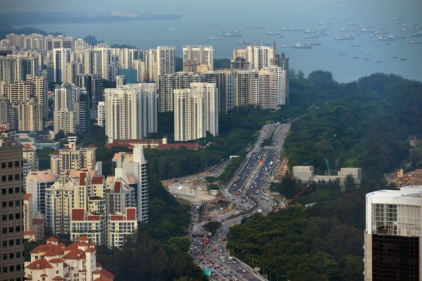 East Coast Parkway, with high rise private condominiums on the Singapore East Coast.