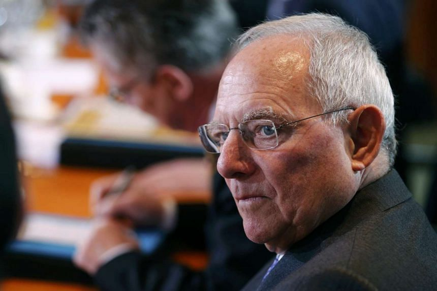 German Finance Minister Wolfgang Schaeuble attends the weekly Cabinet meeting in Berlin, Jan 18, 2017.