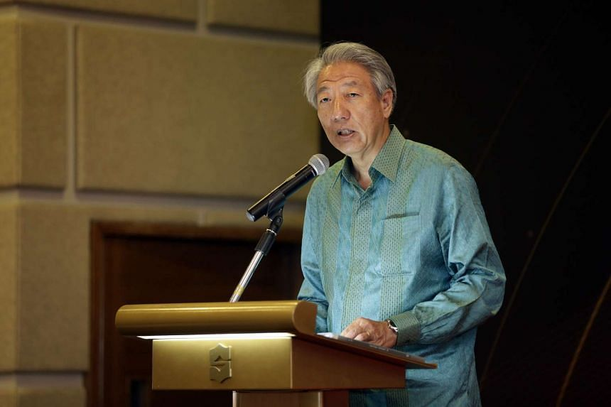DPM Teo Chee Hean speaking at the Religious Rehabilitation Group's 13th Annual Retreat at the Shangri-la's Rasa Sentosa Resort and Spa.