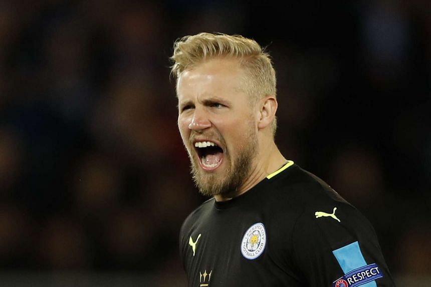 Leicester City's Kasper Schmeichel during the match.