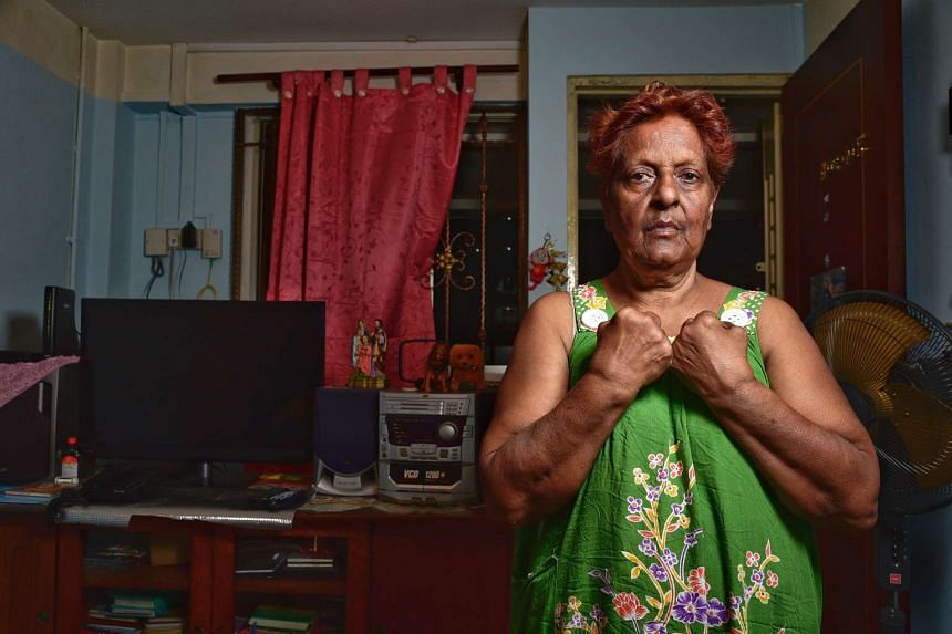 Madam Josephine Savarimuthu claimed that she was handcuffed and restrained while under police custody.
