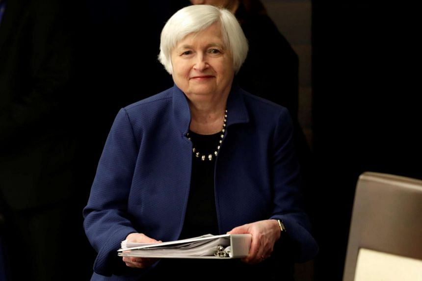 Fed Chair Janet Yellen arrives at a news conference in Washington, March 15, 2017.