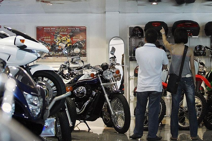 Motorcycle COE prices closed at $7,483 yesterday - up 10 per cent from $6,801 last month, surpassing the previous high of $6,889 in January last year