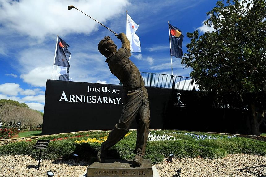 A 4m statue of the late golf legend Arnold Palmer is situated by the first tee at Bay Hill Club & Lodge. It was unveiled last weekend, ahead of this week's Arnold Palmer Invitational.