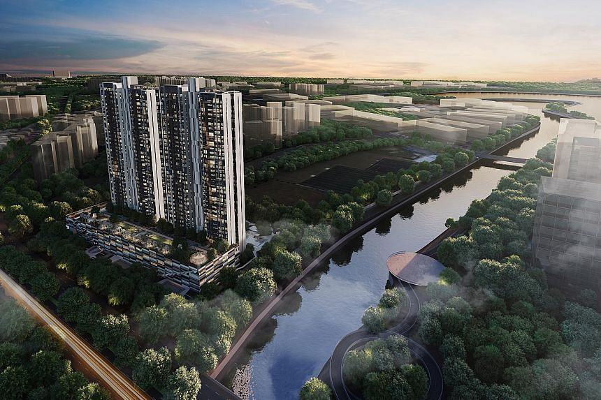 An artist's impression of Parc Riviera in West Coast Vale, launched last November and which sold 200 units last month. With positive sentiments, buyers are also drawn to previously launched projects, said an analyst.