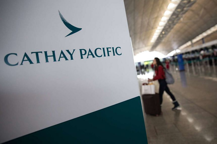 Cathay Pacific posted its first annual loss of HK$575 million (S$105 million) since the height of the financial crisis.