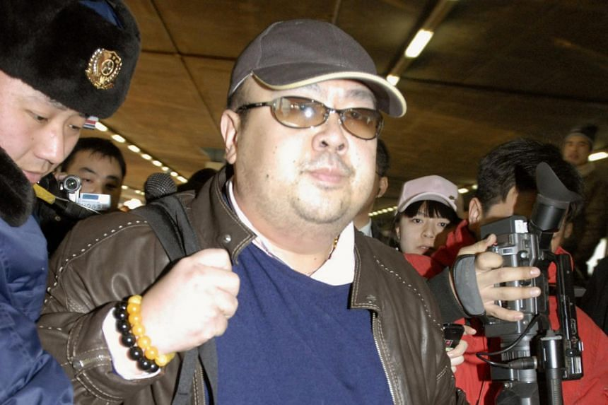 File photo of Kim Jong Nam arriving at Beijing airport in China, on Feb 11, 2007.