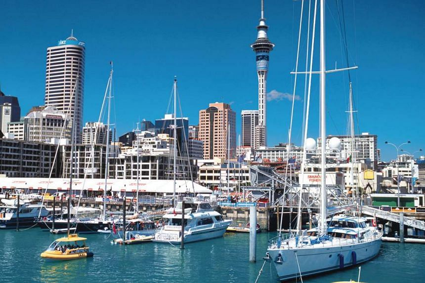 Queens Wharf at Auckland harbour in New Zealand.