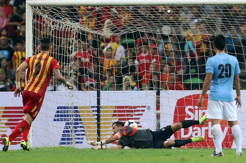 Sultan of Selangor Cup match in Shah Alam, Selangor, Malaysia, between the Singapore selection and Selangor selection on Sep 27, 2014.
