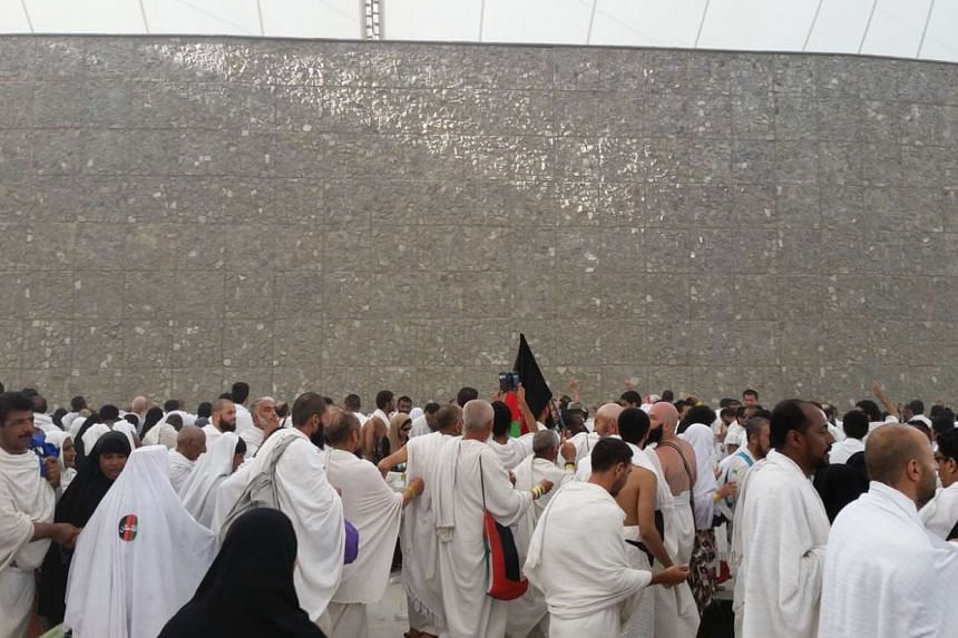 Muslim pilgrims spend the whole day in prayer at Arafah at the peak of the annual haj pilgrimage near the holy city of Mecca.
