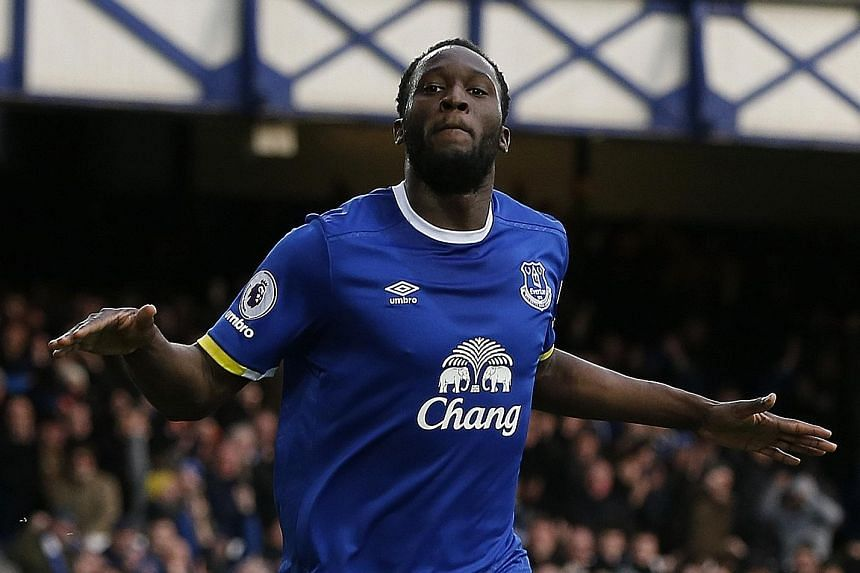Romelu Lukaku celebrating after scoring Everton's second goal in a 2-0 Premier League win over Sunderland last month. He is the league's joint-top scorer with 19 goals, alongside Tottenham Hotspur's Harry Kane.