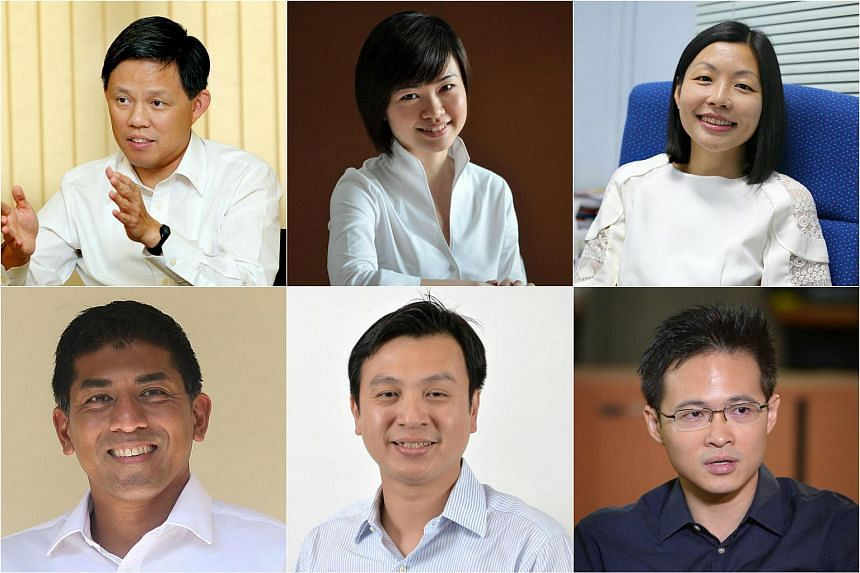 (Clockwise, from top left) MPs Chan Chun Sing, Tin Pei Ling, Cheryl Chan, Desmond Choo, Chia Shi-Lu and Darryl David were among those affected by fake Facebook accounts in the last few days.