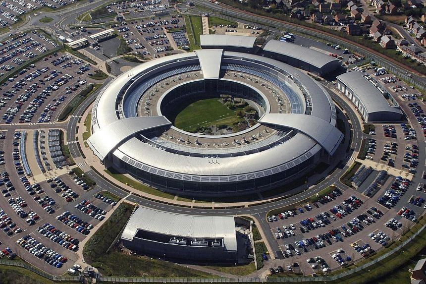 An aerial image of the British Government Communications Headquarters (GCHQ) in Cheltenham, Gloucestershire.