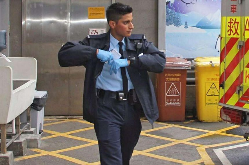 Mr Ifzal Zaffar won the hearts of Hong Kongers after saving a man from jumping off a crane. His clean-cut looks and fluent Cantonese have helped too.