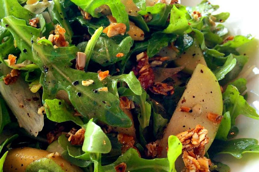 Salad dressings can help you absorb nutrients from leafy vegetables. PHOTO: ST FILE