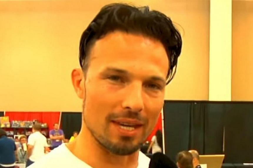 Screengrab of Richard Medina, who played the Red Lion Wild Force Ranger on the popular Power Rangers Wild Force (2002) children's television series.