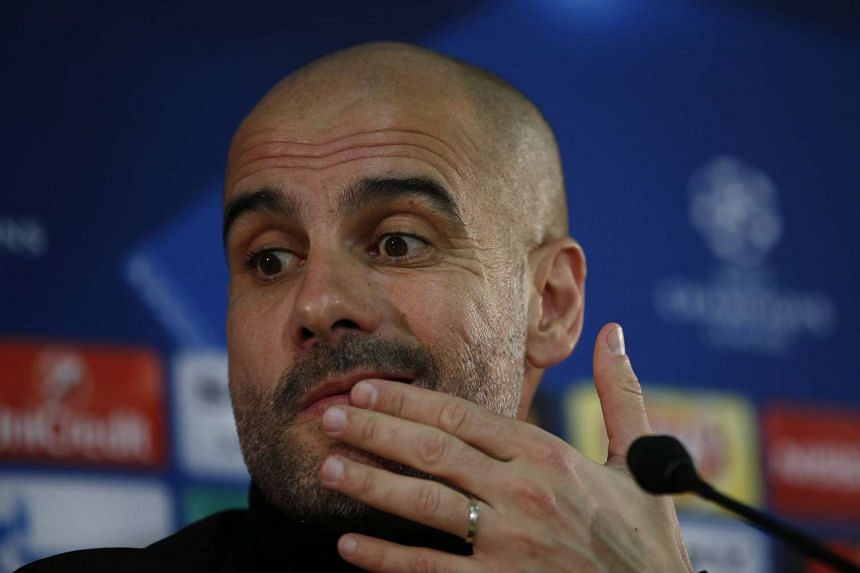 Manchester City manager Pep Guardiola during the press conference on March 14, 2017.
