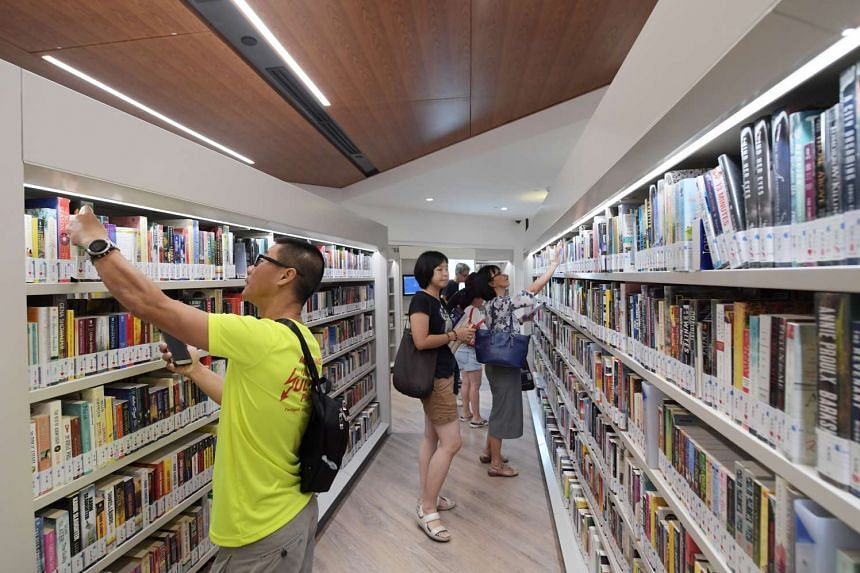 The reopened Sengkang Public Library has 125,000 books, more than half (60 per cent) of which are new.