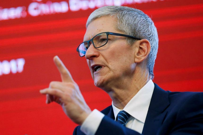 Apple CEO Tim Cook attends the China Development Forum in Beijing, China on March 18, 2017.