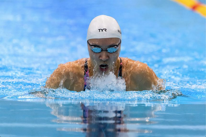 Swimmer Roanne Ho competing in the 50 Metre Breaststroke at the 48th Singapore National Age Group championships on March 18, 2017.