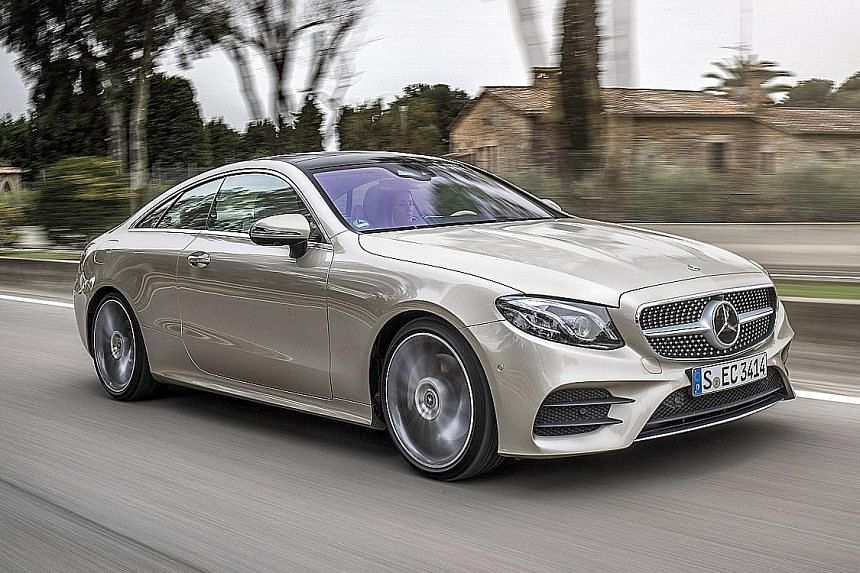 The new E-class Coupe offers a quieter and smoother ride.