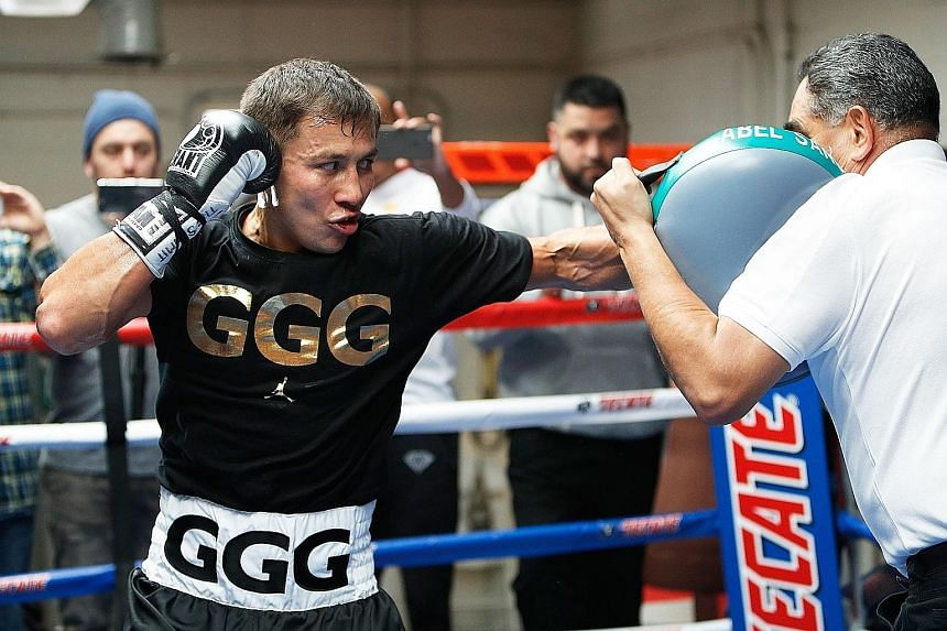 """Middleweight champion Gennady Golovkin, nicknamed """"Triple G"""", will be looking to extend his unbeaten record when he faces Daniel Jacobs today."""