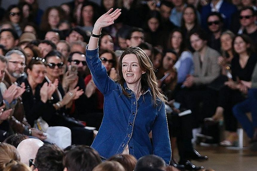 Clare Waight Keller at the Chloe Fall/Winter ready-to-wear fashion show in Paris in 2015. She is moving to Givenchy as its new artistic director.