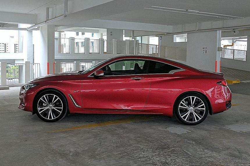 Bewitching looks aside, the Q60 is unlikely to raise the pulse when attempting to break out of a leisurely gait.