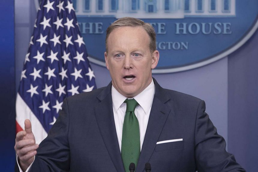 White House Press Secretary Sean Spicer holding a news briefing at the White House, in Washington, DC, on March 16, 2017.