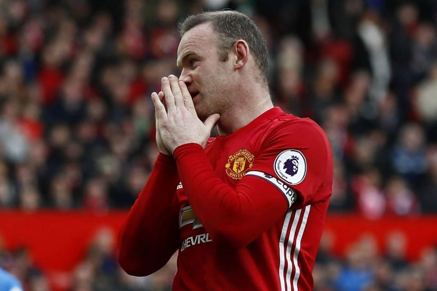 Manchester United's Wayne Rooney reacts during the match against AFC Bournemouth.