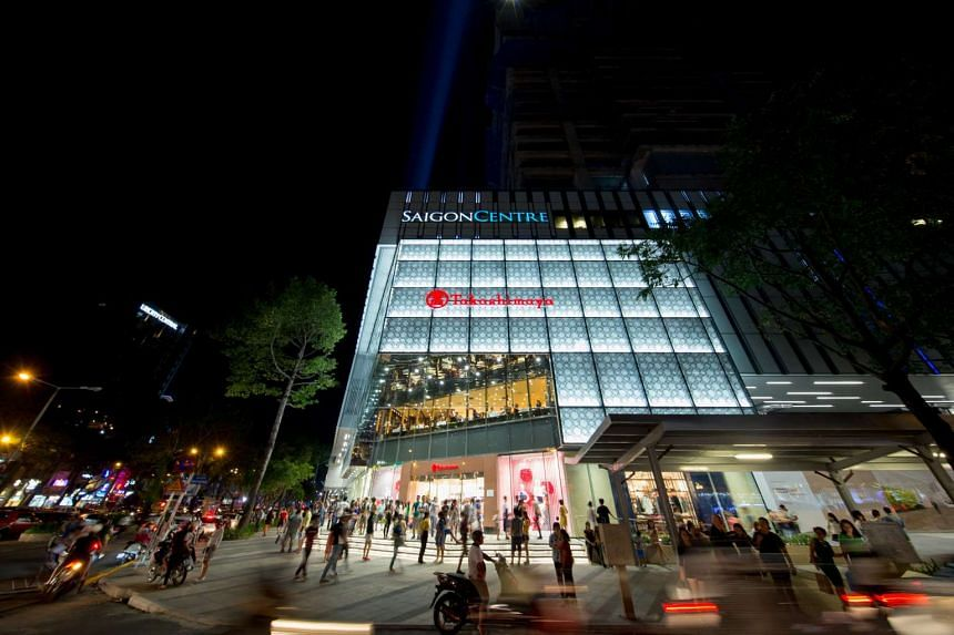 Keppel Land's Saigon Centre in Ho Chi Minh has 55,000 sq m of retail space, and is anchored by Japanese retail giant Takashimaya, its first outlet in the city.